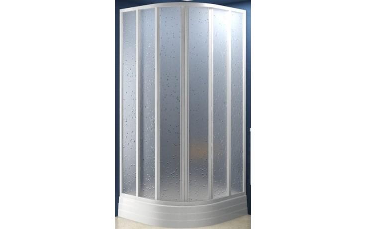 RAVAK SKKP6-90 sprchový kout 875-895x1850mm čtvrtkruhový, posuvný, šestidílný, bílá/pearl 3207010011