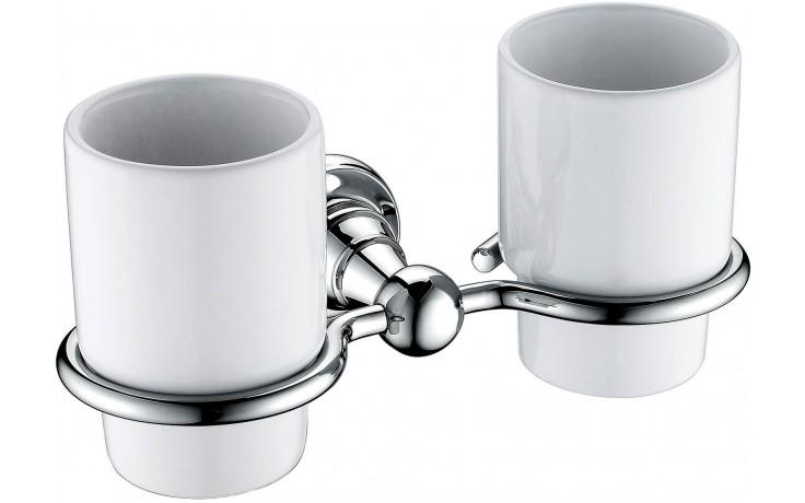 HERITAGE HOLBORN držák s kelímky 205mm dvojitý, porcelán/chrom
