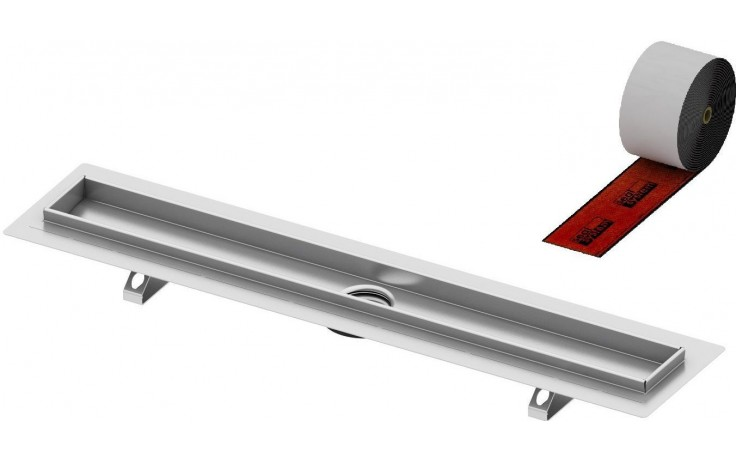 CONCEPT 200 sprchový žlab 700mm, rovný, s těsněním Seal System, nerez ocel