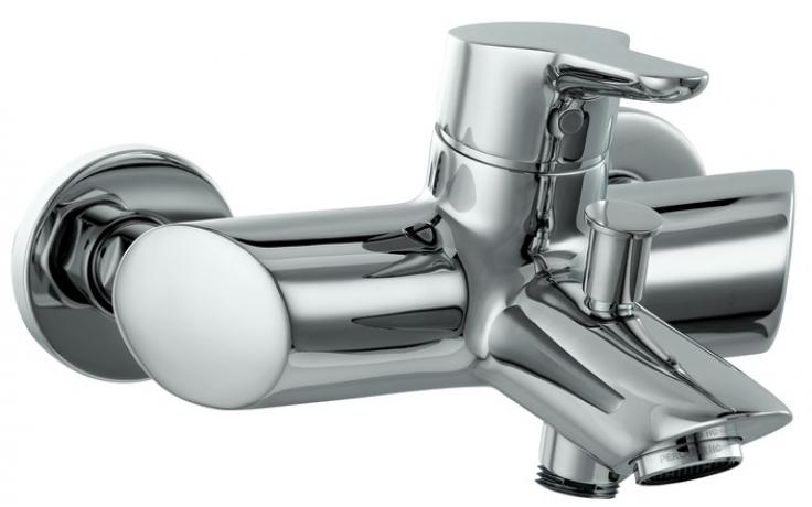 LAUFEN TWINPRO vanová nástěnná páková baterie bez sprchového příslušenství chrom 3.2150.7.004.400.1