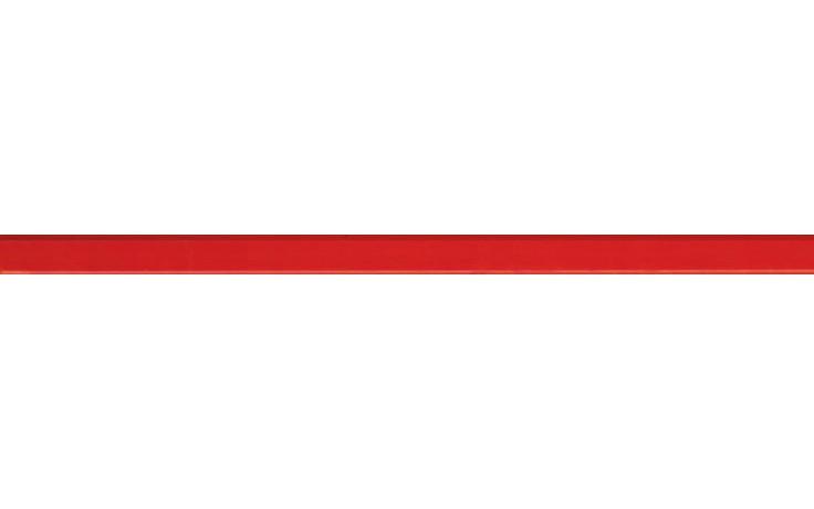 Listela Villeroy & Boch BiancoNero 1900/BW30 1,5x30 cm červená