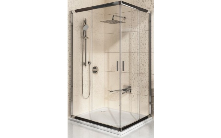 RAVAK BLIX BLRV2K 80 sprchový kout 780-800x1900mm rohový, posuvný, čtyřdílný satin/transparent 1XV40U00Z1