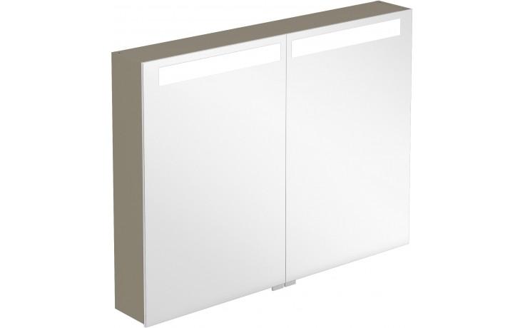 Nábytek zrcadlová skříňka Villeroy & Boch Verity Design 1000x746,5x149 mm antracitová lesk