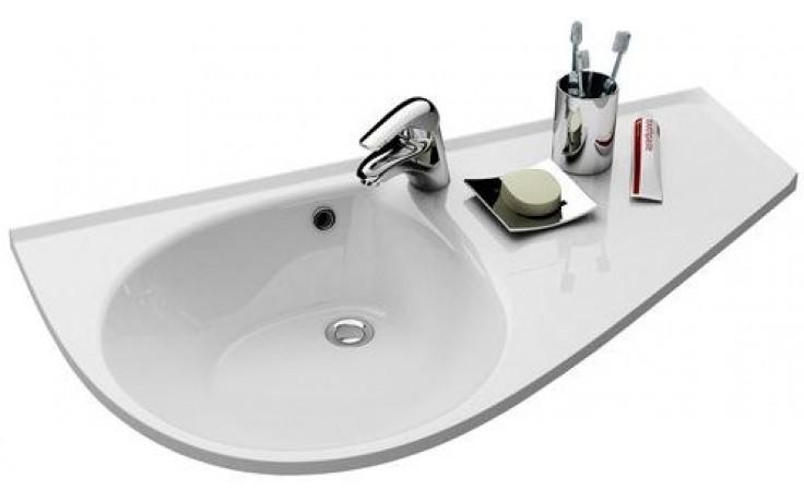 RAVAK AVOCADO COMFORT umyvadlo 950x530x124mm, levé, s otvorem a přepadem, bílá/litý mramor