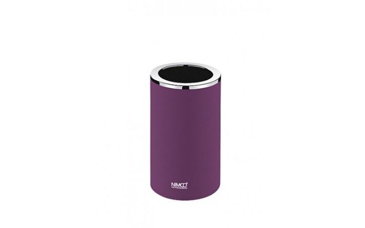 NIMCO PURE Sklenka na kartáčky 72x72x127mm fialová/ chrom PU 7058-50