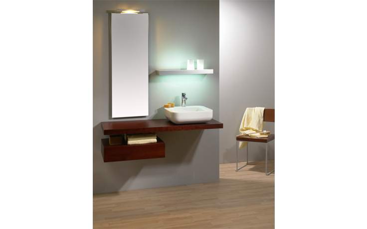 Nábytek zrcadlo Lebon TZ1 zrcadlo s vypínačem a přípravou na osvětlení 90x40 cm