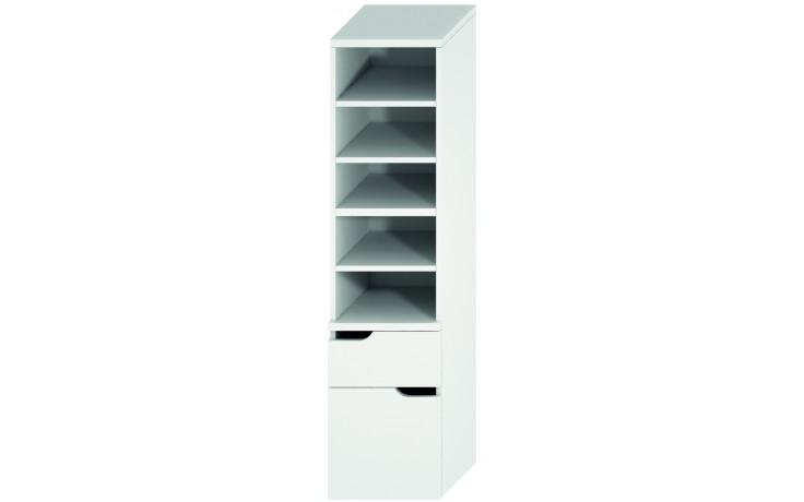 JIKA MIO vysoká skříňka 363x340x1485mm 2 zásuvky, bílá/bílá 4.3419.1.171.500.1