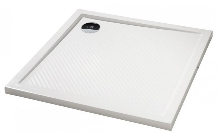 Vanička litý mramor Huppe čtverec Purano 90x90cm bílá