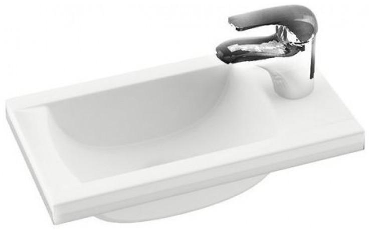 RAVAK CLASSIC MINI umývátko nábytkové, rohové 400x220mm z litého mramoru, bílá