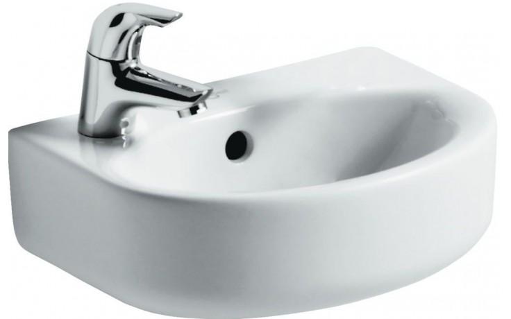 IDEAL STANDARD CONNECT umývátko 350x260mm s otvorem a přepadem, bílá E791201