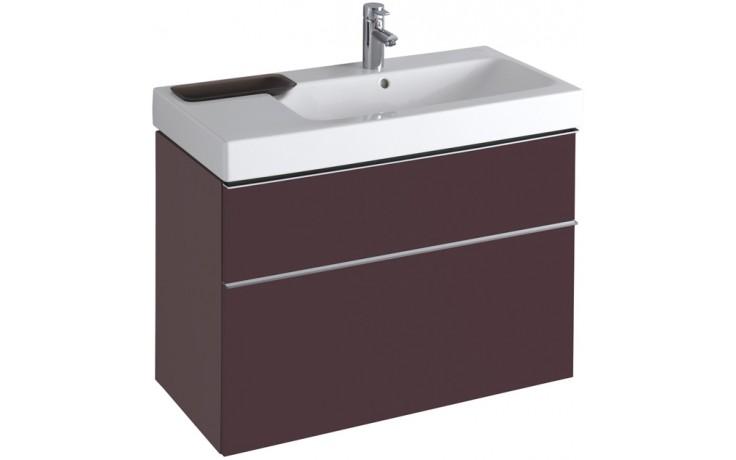 Nábytek skříňka pod umyvadlo Keramag iCon 89x62x47,7 cm burgundy lesklá