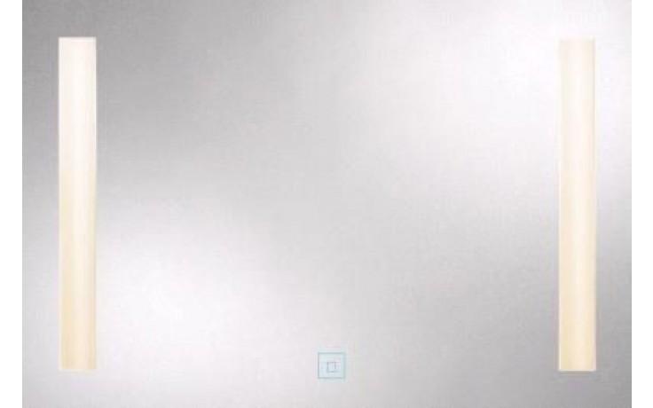 AMIRRO LUMINA WHITE zrcadlo 100x70cm se zářivkovým osvětlením, řetízkový spínač
