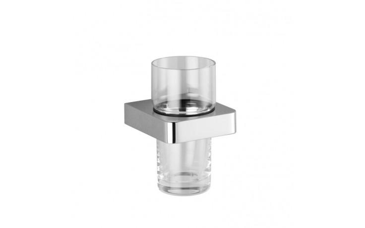 Doplněk držák se skleničkou Dornbracht Lulu 83 400 710-00 nástěnná montáž  chrom/křištál