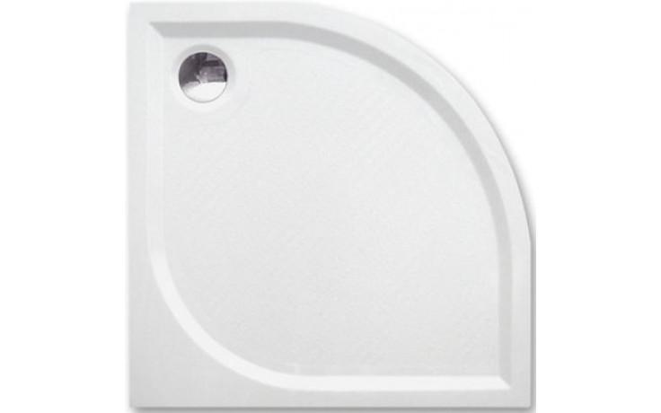 ROLTECHNIK DREAM-M sprchová vanička 900x900x30mm R550 mramorová, čtvrtkruhová, bílá