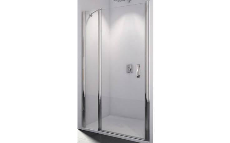 SANSWISS SWING LINE SL13 sprchové dveře 1400x1950mm jednokřídlé, s pevnou stěnou v rovině, aluchrom/čiré sklo