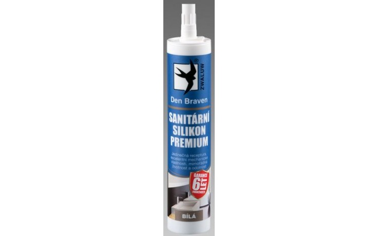 DEN BRAVEN PREMIUM sanitární silikon 310ml, transparentní