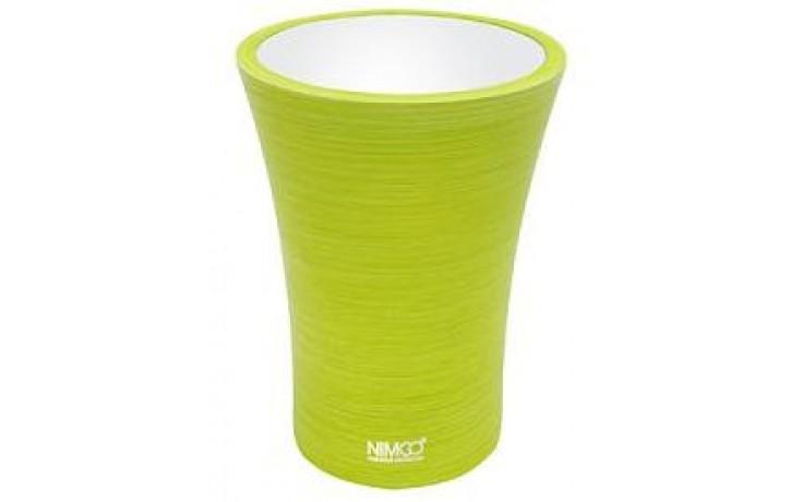 NIMCO ATRI pohárek na kartáčky 85x85x115mm žlutozelená AT 5058-75