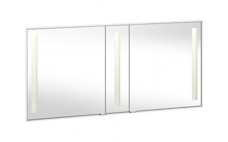 Nábytek zrcadlová skříňka Keuco Royal Integral vč. osvětlení 149,8x69,8x17cm, kr.profil 8,5mm stříbrný elox/křišťál