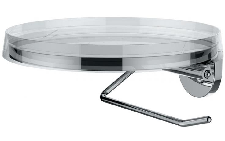 LAUFEN KARTELL BY LAUFEN držák toaletního papíru včetně plastového disku chrom/transparent 3.8433.2.004.000.1