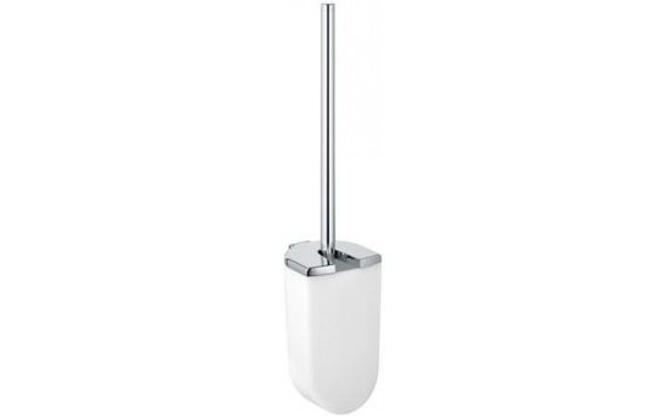 KEUCO ELEGANCE WC sada 400mm se štětkou, s krytem, chrom/sklo