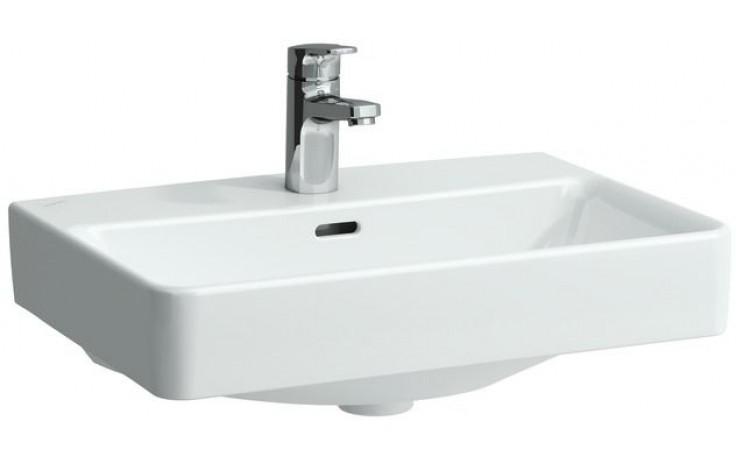 LAUFEN PRO S umyvadlo Compact 550x380mm k zabudování do nábytku, s otvorem, bílá