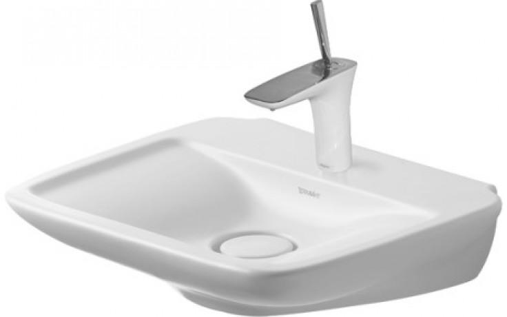 Umývátko klasické Duravit s otvorem PuraVida 550x420 mm bílé