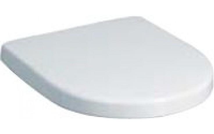 Sedátko WC Keramag duraplastové s kov. panty Renova Nr.1 Plan s aut.pozvolným sklápěním  bílá