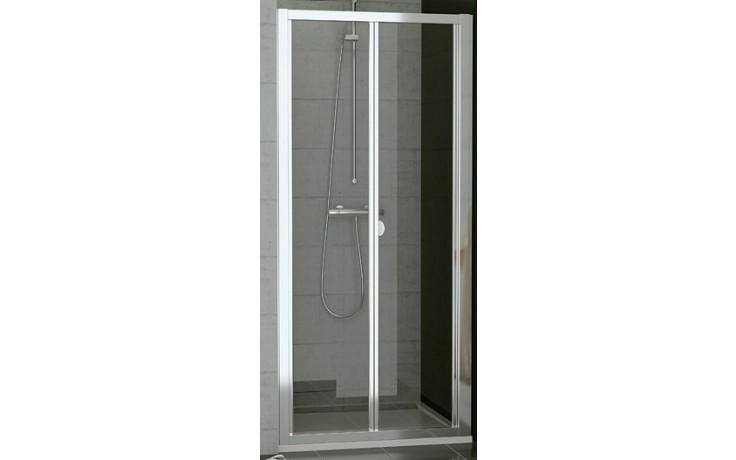 SANSWISS TOP LINE TOPK sprchové dveře 750x1900mm, zalamovací, matný elox/sklo Durlux