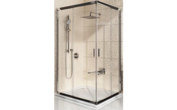 RAVAK BLIX BLRV2K 80 sprchový kout 780-800x1900mm rohový, posuvný, čtyřdílný bílá/grape 1XV40100ZG
