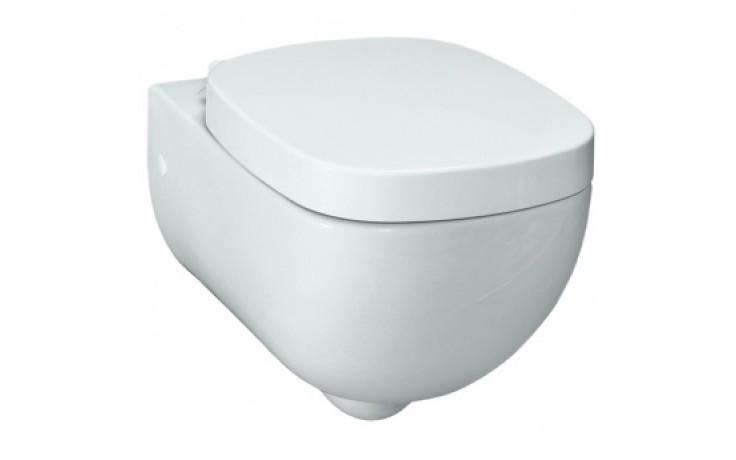 WC závěsné Laufen odpad svislý Palomba s hlubokým splachováním  bílá
