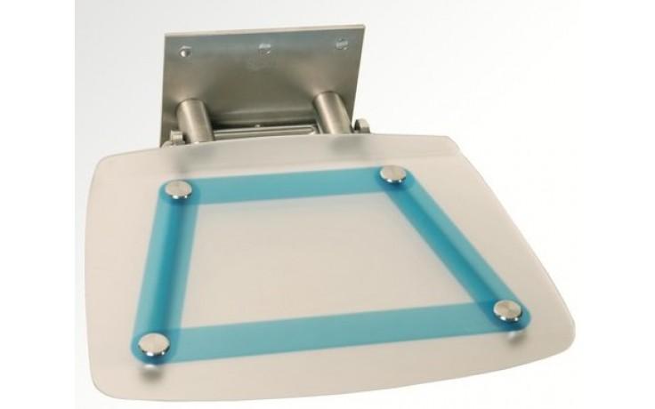 RAVAK OVO B DECOR sedátko 360x360x130mm do sprchového koutu, sklopné, blueline B8F0000031