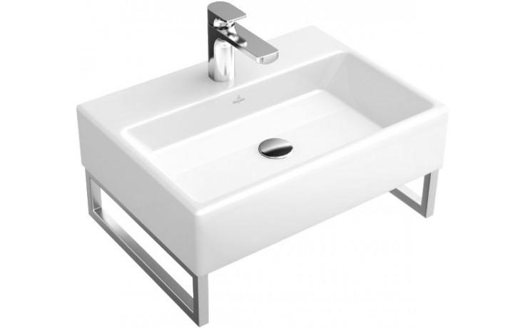 Umyvadlo klasické Villeroy & Boch s otvorem Memento 600x420mm Bílá Alpin
