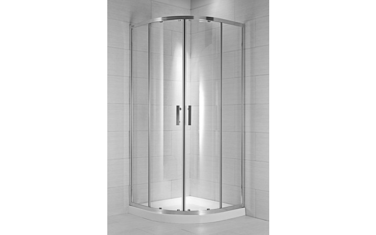 Zástěna sprchová čtvrtkruh Jika sklo Cubito pure 100x195 cm arctic