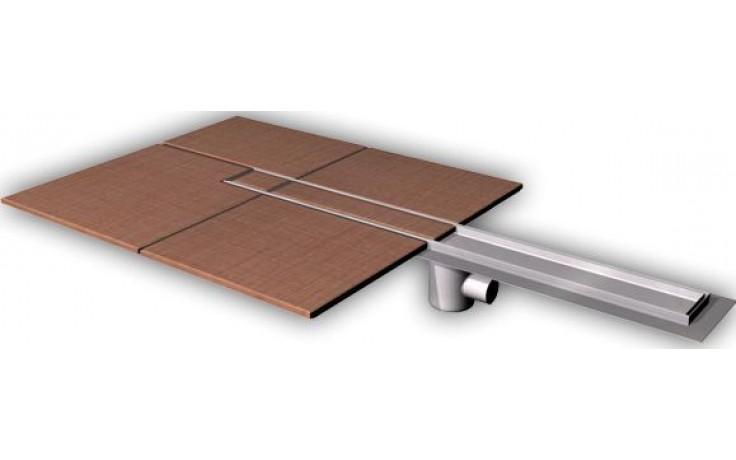 AZP BRNO PZ 015.800 podlahový žlab 800mm, pro vložení kachliček, nerez ocel