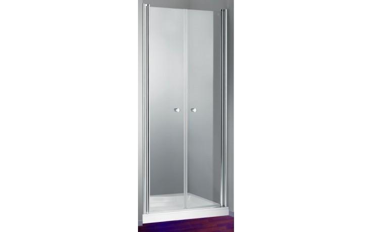 HÜPPE DESIGN 501 ELEGANCE PTS 800 lítací dveře 800x1900mm pro boční stěnu, stříbrná matná/čirá anti-plague 8E1401.087.322