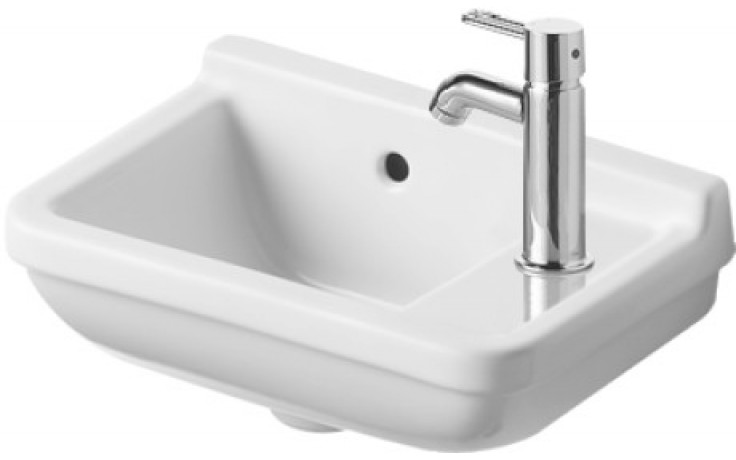 Umývátko klasické Duravit s otvorem Starck 3 otvor vpravo 40x26 cm bílá