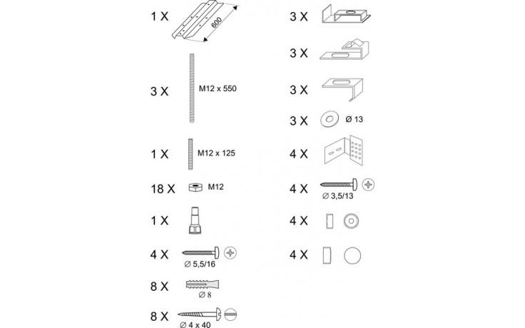 Příslušenství k vanám Ravak - Panelkit ROSA(B23000100N)- univerzální 95,140,150,160,170