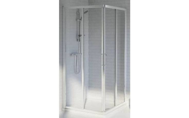 IDEAL STANDARD TIPICA sprchový kout 80x80cm čtverec, silver brill/satinovaný plast T2357YB