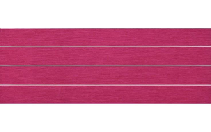 Obklad Keraben Lineas Thai Rojo 25x70 cm červená/lesk