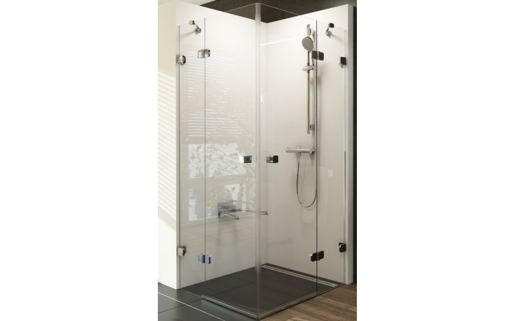 RAVAK BRILLIANT BSRV4 100 sprchový kout 1000x1000x1950mm rohový, čtyřdílný chrom/transparent