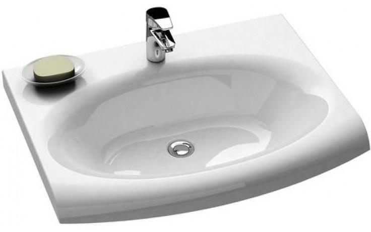 RAVAK EVOLUTION nábytkové umyvadlo 700x550x192mm z litého mramoru, bez přepadu, bílá XJE01200000