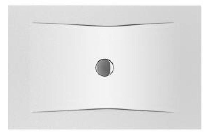 Vanička smaltovaná Jika obdélník Pure ocelová 3,5mm 120x80 cm bílá
