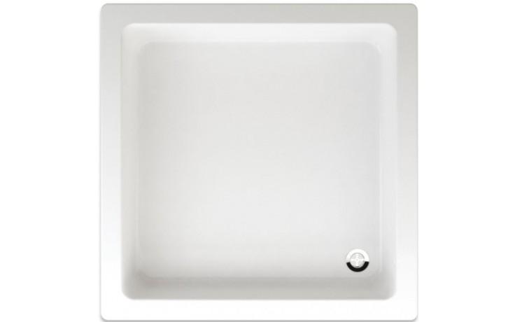 TEIKO LIBRA sprchová vanička 90x90x15cm akrylátová, čtvercová, s hladkým povrchem, bílá