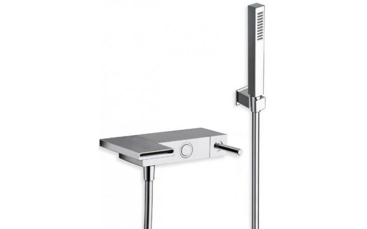 Baterie vanová Cristina nástěnná páková Modul s ruční sprchou  chrom