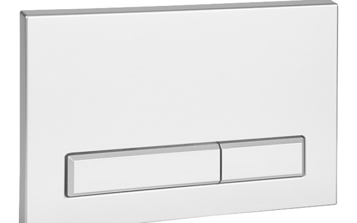 SANELA SLW50 splachovací tlačítko, dvojčinné, do rámu SLR 21, bílá