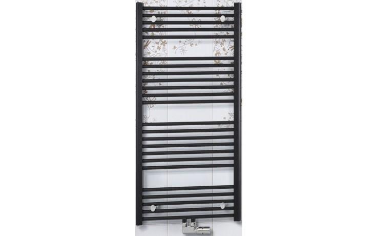 CONCEPT 100 KTKM radiátor koupelnový 843W rovný se středovým připojením, bílá KTK13400750M10