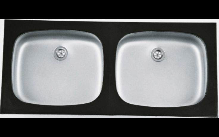 NORMA FRÝDLANT 511 dřez 1004mm, dvoudílný s rámem, lesklý nerez
