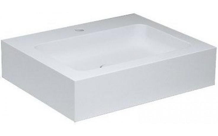 KEUCO EDITION 300 nábytkové umyvadlo 650x525mm s otvorem, odpadovým a přepadovým systémem Clou, bílá