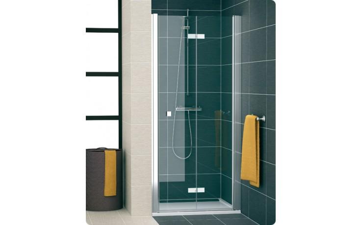 Zástěna sprchová dveře Ronal Swing-Line F SLF1D 1000 04 07 1000x1950mm bílá/čiré AQ
