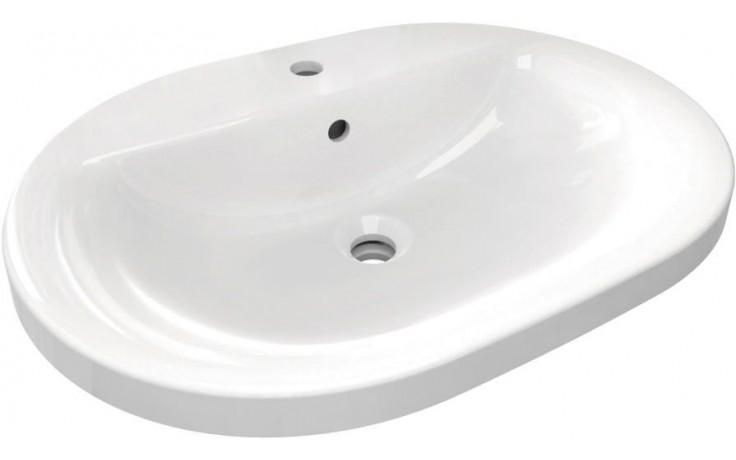 IDEAL STANDARD CONNECT umyvadlo 620x460mm zápustné, ovál, s otvorem a přepadem bílá E504001
